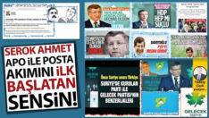 Serok Ahmet, APO ile posta akımını ilk başlatan sensin!