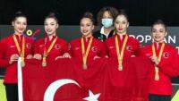 Ritmik Cimnastikte bir ilk! Kadın Milli Takımımız Avrupa şampiyonu oldu.