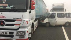 Dokuz araçlı zincirleme kazada 2 kişi yaralandı