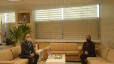 Milletvekili Pakize Mutlu AYDEMİR, Sağlık Müdürü Uz.Dr.Serkan Kadir KESKİN'i ziyaret etti.