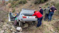 Otomobiliyle şarampole düşen kişi öldü