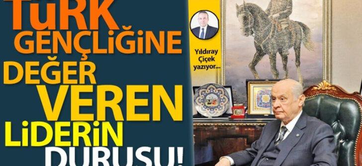 Türk Gençliğine değer veren liderin duruşu!