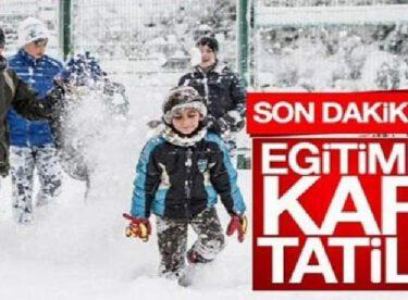 BALIKESİR'DE PAZARTESİ OKULLAR TATİL EDİLDİ