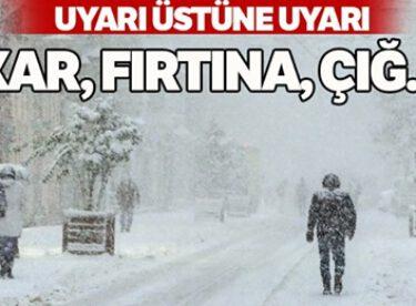 Uyarı üstüne uyarı: Kar, fırtına, çığ…
