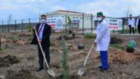 Fidanlar, Sağlık Çalışanları Hatıra Ormanı İçin Toprakla Buluştu