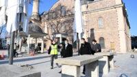 Zağnos Paşa Camii'nde Tarihi Meydan Ortaya Çıkıyor