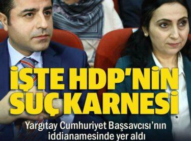 İşte HDP'nin suç karnesi