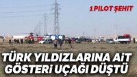 Konya'da askeri uçak düştü: 1 şehit