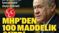 MHP'den 100 maddelik anayasa önerisi