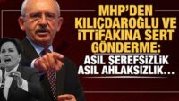 MHP'den Kılıçdaroğlu ve ittifakına sert gönderme!
