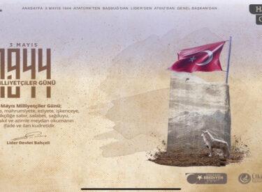Ülkü Ocakları'ndan 3 Mayıs 1944 Milliyetçiler Günü hatırası