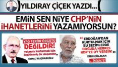 Emin sen niye CHP'nin ihanetlerini yazamıyorsun?