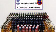 (105) litre kaçak içki ele geçiril