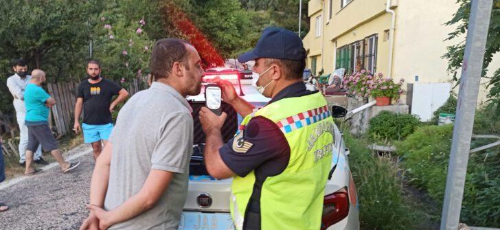 Alkol ve uyuşturucu madde denetimi sonucunda; (1.031) araç kontrol edildi