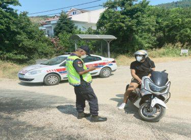 Motosiklet ve motorlu bisiklet denetimi sonucunda; (672) araç kontrol edildi