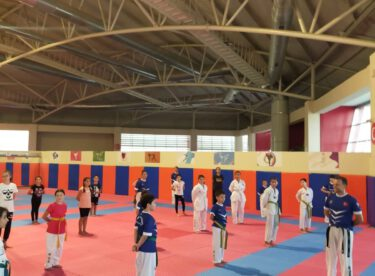 Taekwondo branşındaki çalışmalar devam ediyor.