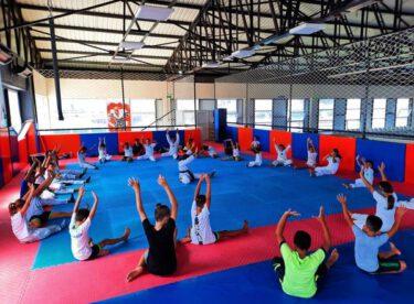 Cimnastik ve taekwondo antremanları devam ediyor..