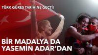 Balıkesir'li sporcumuz Yasemin Adar olimpiyat üçüncüsü