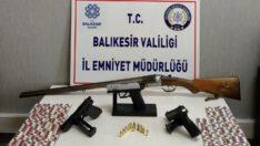 Edremit ve İvrindi'de uyuşturucu ve silah..