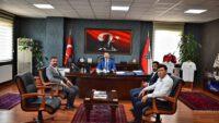 MHP İl Başkanı Gökay YÜKSEL Emniyet Müdürü Hasan ONAR'ı makamında ziyaret etti.