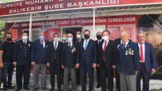Türkiye Muharip Gaziler Derneği Balıkesir Şube Başkanlığını ziyaret ettiler