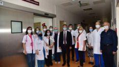 Üniversite Hastanesinde Yoğun Bakım Ünitesi de faaliyete geçirildi.
