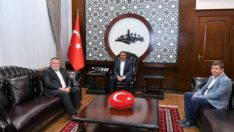 Yargıtay Onursal Başkanı İsmail Rüştü Cirit Vali Hasan Şıldak'ı ziyaret etti.