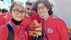 TEKNOFEST'TE EDREMİTLİ ÖĞRENCİLER TÜRKİYE 1.OLDULAR