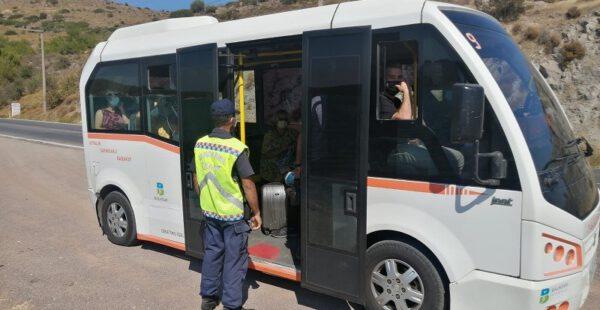 """Sivil Denetim Personelince Toplu Taşıma Araçlarına Yönelik Denetim"""" faaliyeti icra edildi"""