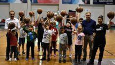 Basketbol çalışmalarına yoğun katılım…