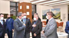Esnaf Odaları başkanlarıyla Burhaniye'de bir araya geldi.
