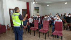 Jandarma Trafik Timlerince, (347) okul taşıtı ve servis şoförüne trafik konusunda bilgilendirme yapıldı