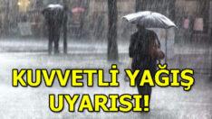 Kuvvetli yağışa dikkat