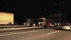 Balıkesir'de trafik kazası. 18 araç birbirine girdi
