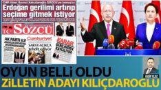 Oyun belli oldu! Zilletin adayı Kılıçdaroğlu