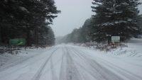 Kazdağlarında yoğun kar yağışı başladı