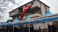Şehidin babaevine Türk Bayrağı asıldı