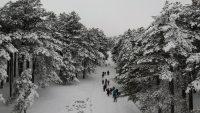 Kazdağları'nın karlı güzelliği havadan böyle yansıdı