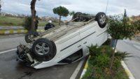 kamyonet takla attı: 1 yaralı