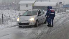 Kazdağları'ndan geçen karayolu trafiğe kapandı