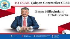 Vali Yazıcı Gazeteciler gününü kutladı