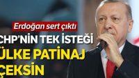 Erdoğan, CHP'yi eleştirdi: Türkiye patinaj yapsın istiyorlar