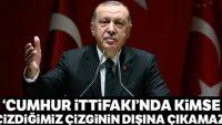 Cumhurbaşkanı Erdoğan: Cumhur İttifakı'nda kimse kalkıp çizdiğimiz çizginin dışına çıkamaz