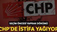 CHP'de istifa yağmuru dinmiyor