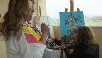 kadın ressamlar minyatür sergisine hazırlanıyor
