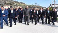 Marmara Adası'nda seçmenlerle buluştu
