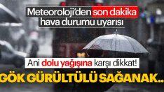 ANİ DOLU YAĞIŞINA DİKKAT!..