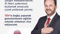 """KARESİ BELEDİYE BAŞKANI DİNÇER ORKAN;""""TEV'E BAĞIŞ YAPIN"""""""
