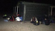 Ayvalık'ta 17 mülteci yakalandı