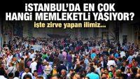 İSTAN BUL'DA 100 BİN 318 BALIKESİR'Lİ YAŞIYOR